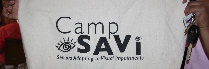 A photo of a Camp SAVI tote bag