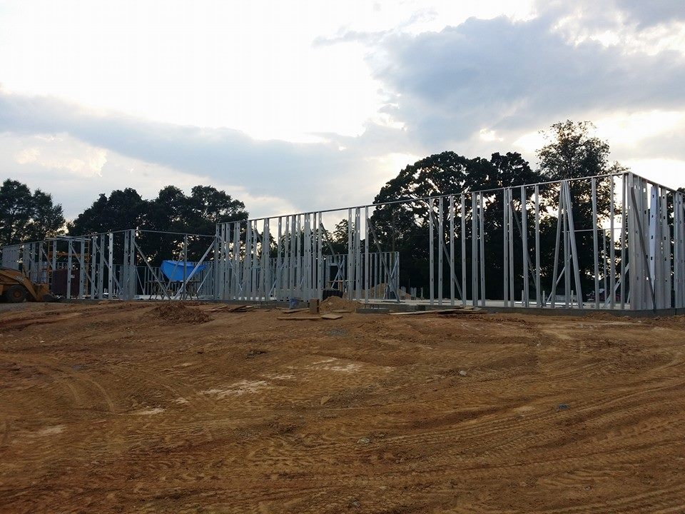 Photo of the construction on the new Talladega VR office