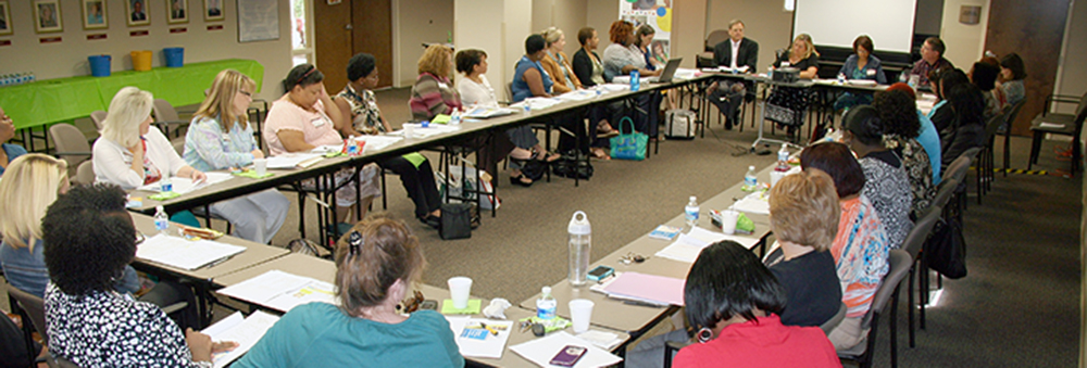 A photo of the September statewide meeting of the CRS Parent Advisory Committee