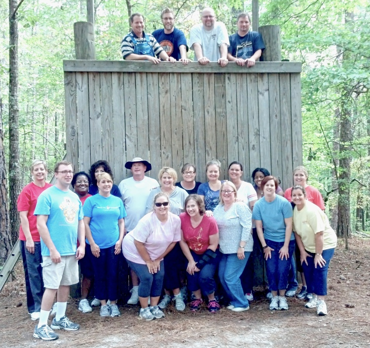 The LTI class of 2012-13 pause for a group photo during the wall climb team building exercise at the course's second session (file photo)