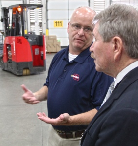 In this file photo, Doug Parks discusses with Deputy Commissioner Jim Carden the many success of a fruitful partnership with ADRS