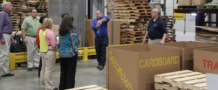 In this file photo, Doug Parks, right, discusses to ADRS leaders the many benefits of the simulation and training center, before it formally opened in July 2013