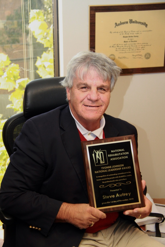 SAIL Rehabilitation Specialist Steve Autrey is the 2014 recipient of the Yvonne Johnson National Leadership Award