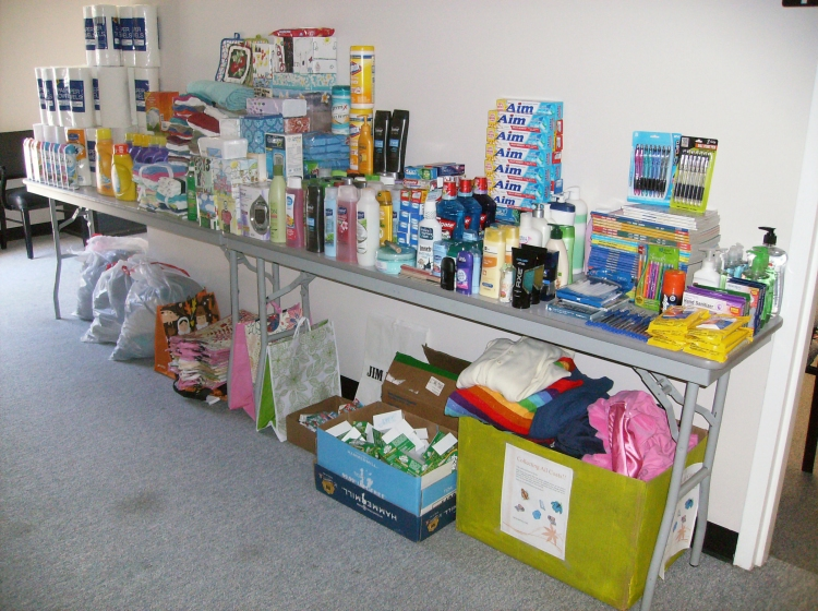 The SAIL office collected household and personal hygiene items for consumers.