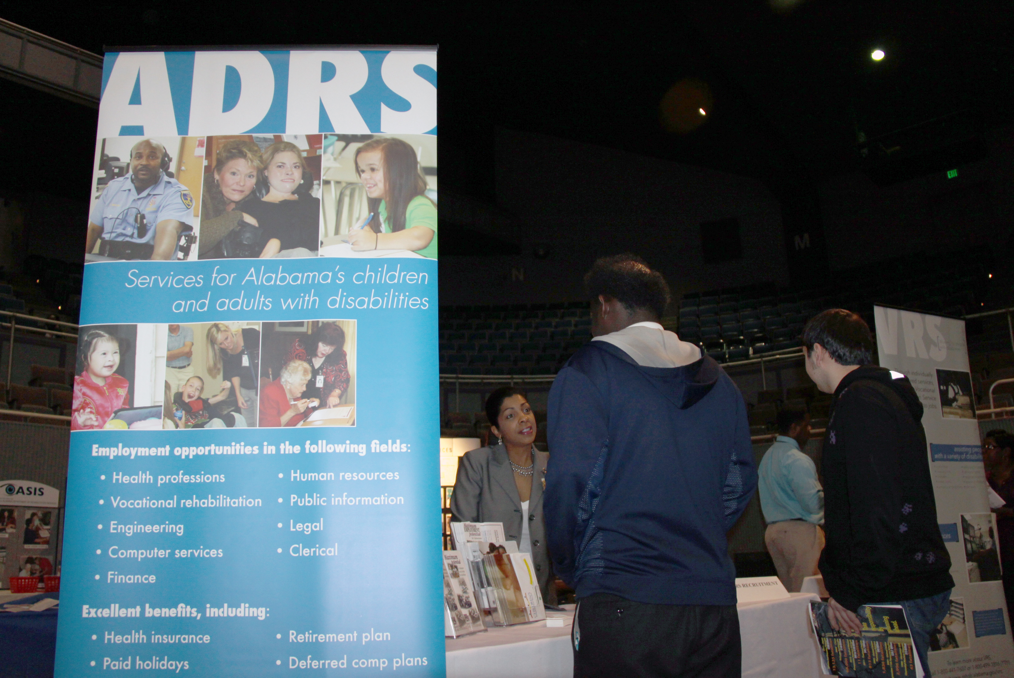 students explore career options at birmingham area transition gwenea mcdaniel adrs recruitment and retention specialist speaks a student