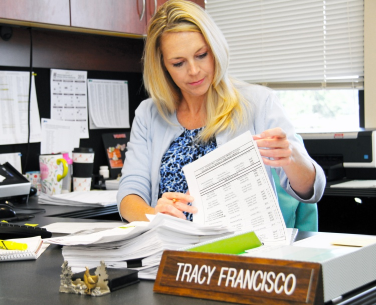 Tracy Francisco is the department's new personnel manager