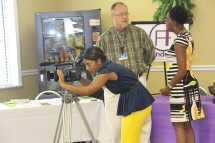 A reporter documents the events at Dothan's 25th ADA celebration