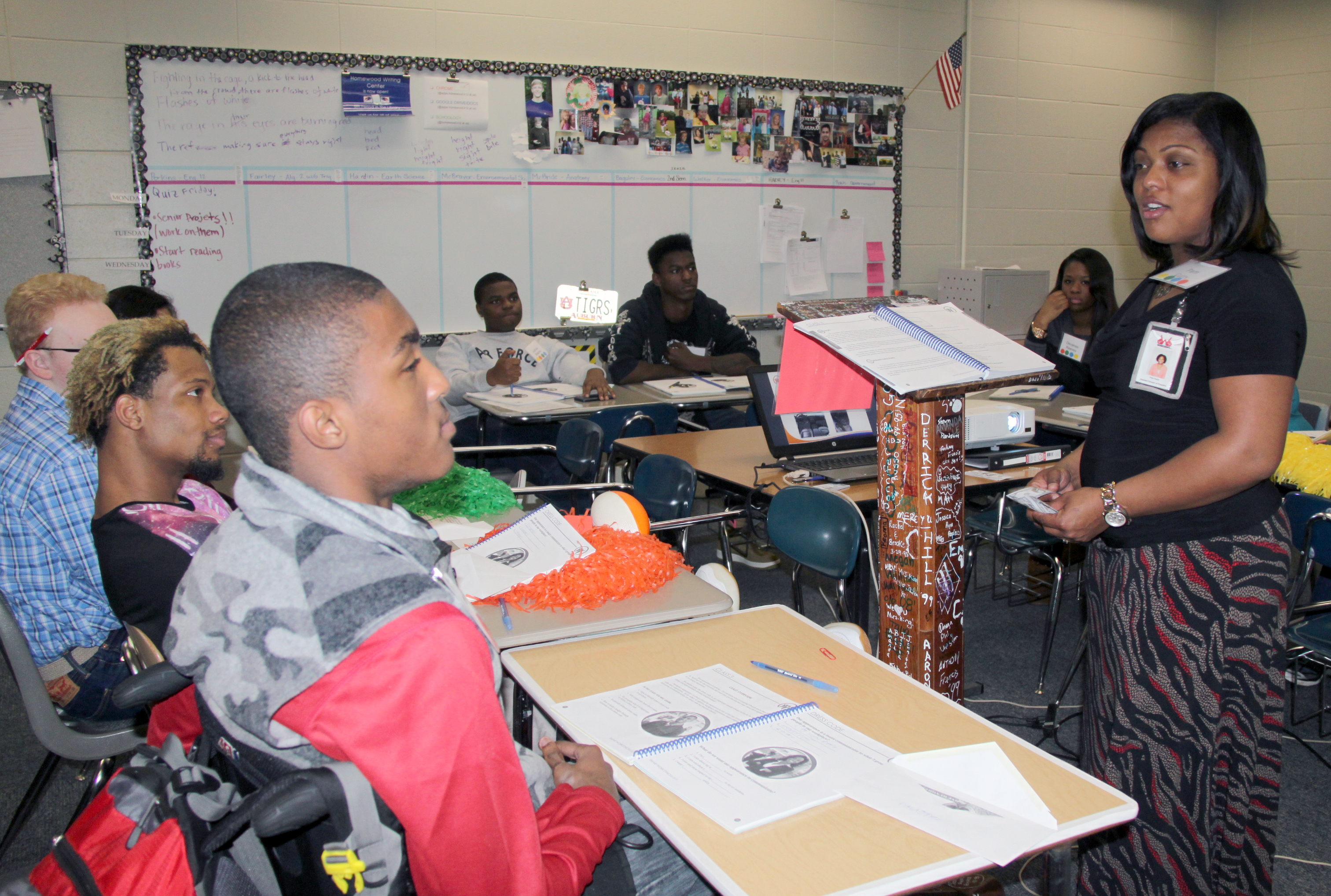 students around state attend smart work ethics training rehab curry discusses dress codes a student in smart work ethics class at homewood high school