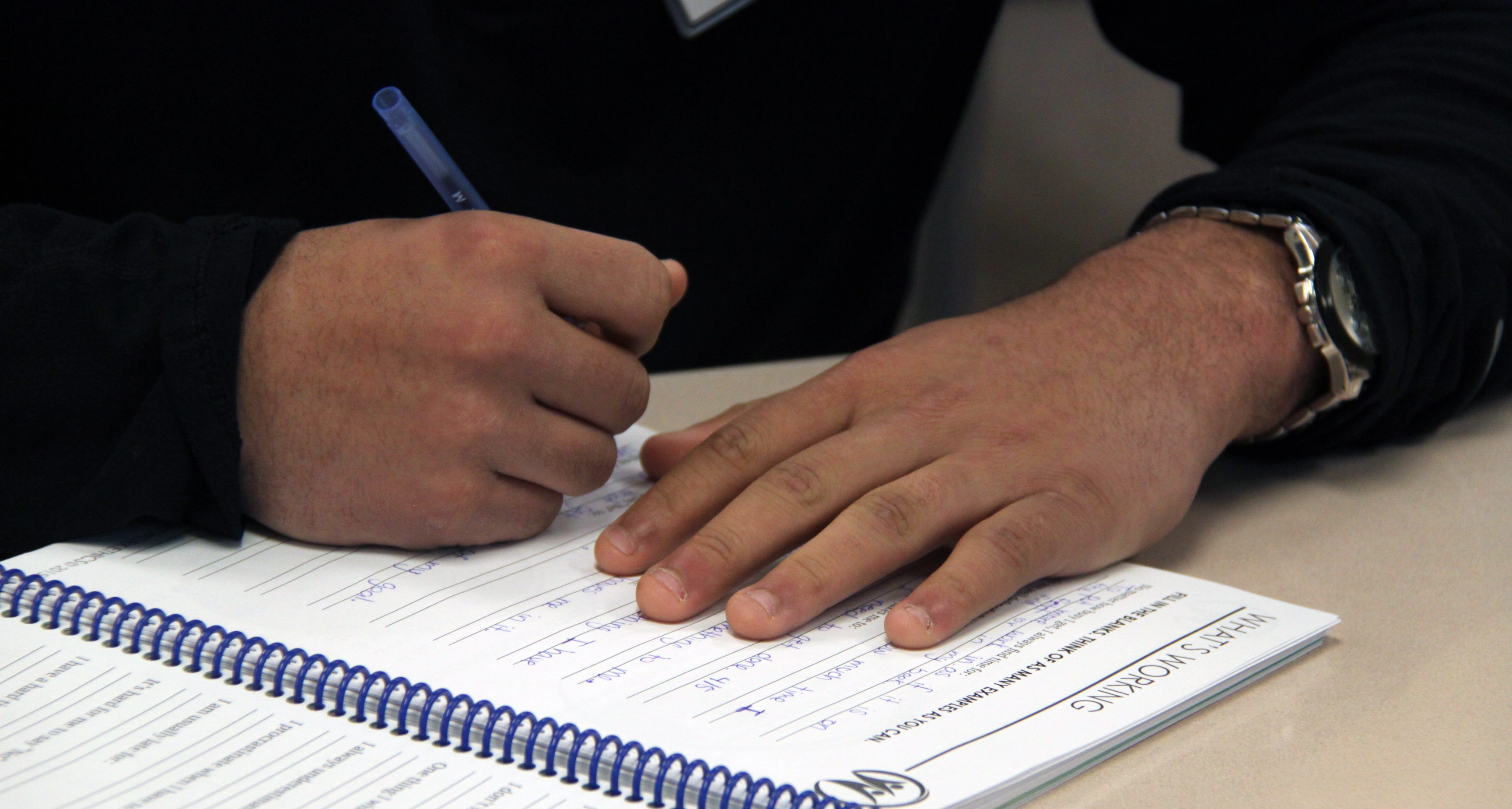 Great A Student Takes Notes During The Class