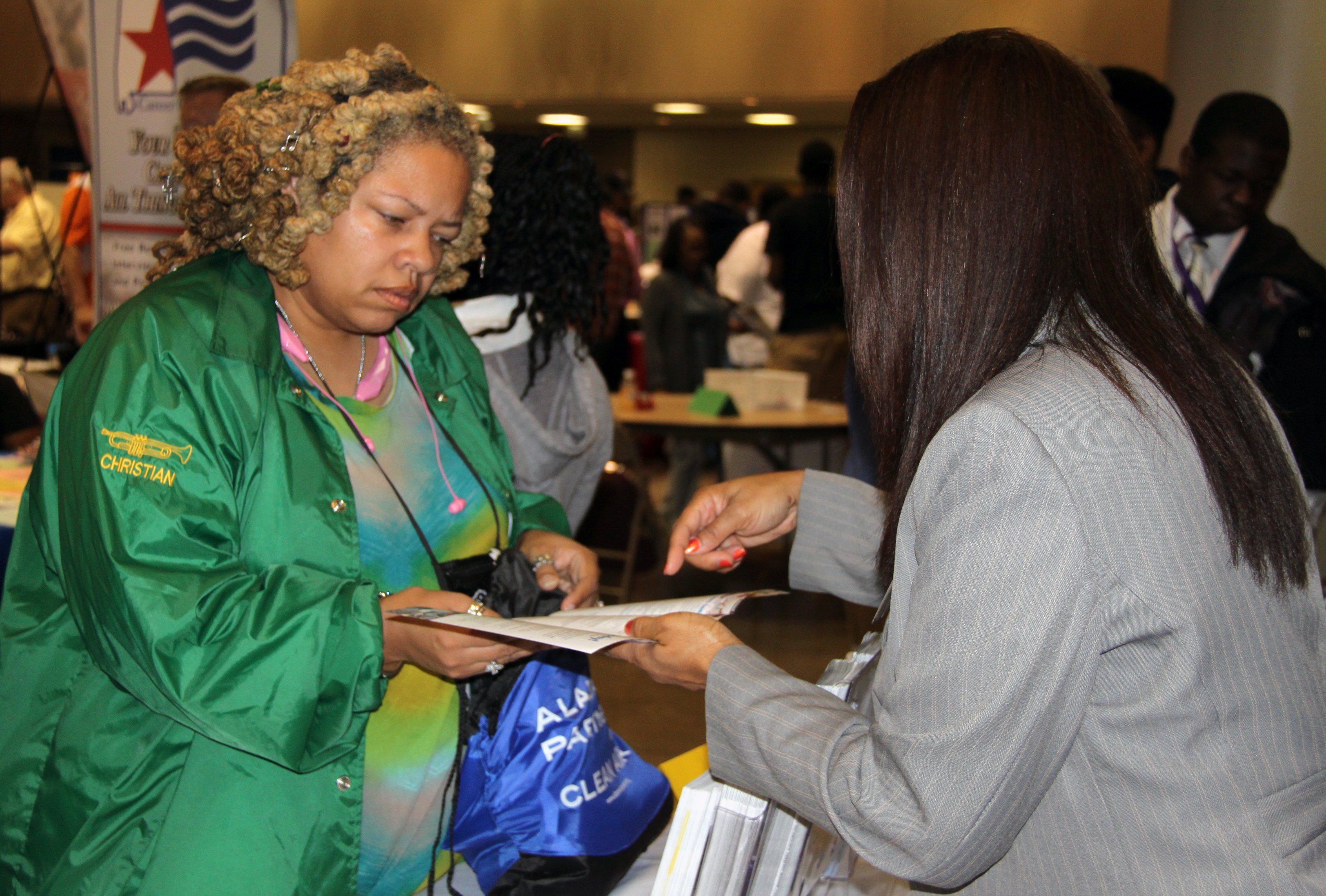 teen transition career fair draws crowd photo gallery video adrs recruitment and retention specialist gwenea mcdaniel discusses career options a or to the adrs