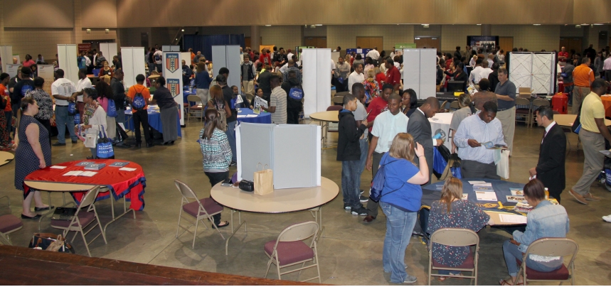 The fair attracted more than 300 students