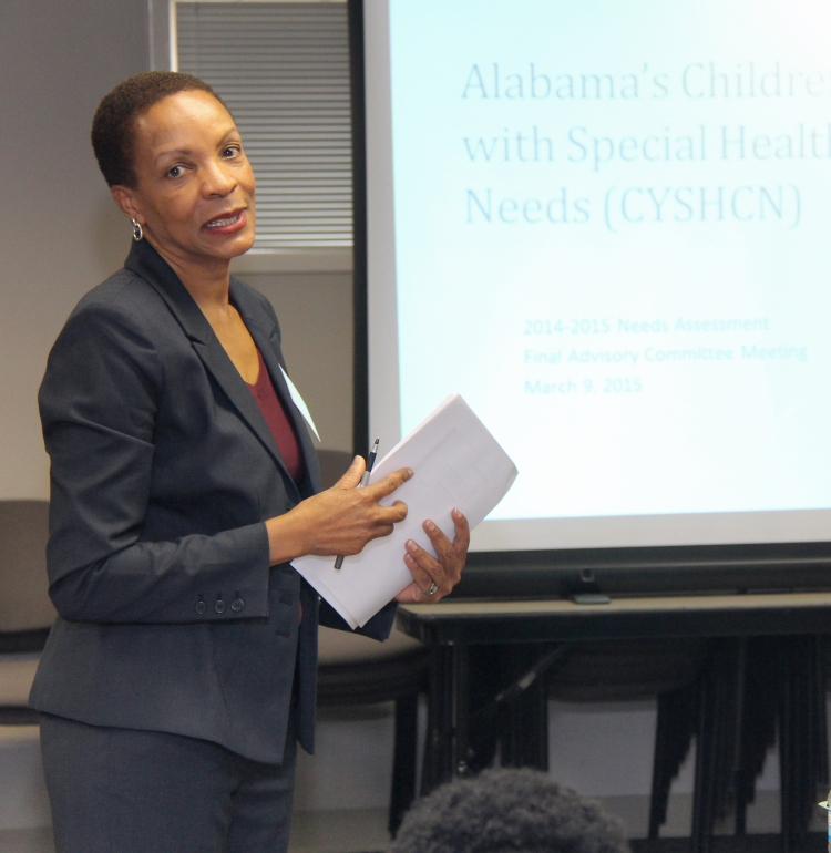 In this file photo, CRS Maternal and Child Health Coordinator Lolita McLean presents the findings of the 5-year needs assessment