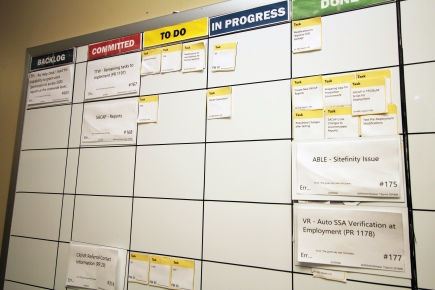 The Scrum task board is a tool that helps the development team visualize the workload in the sprint