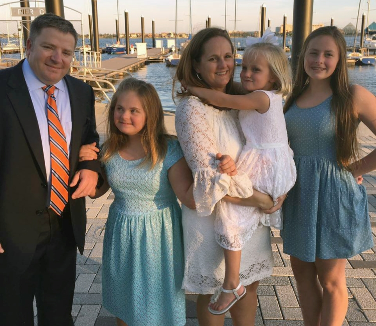 The Foster family. From left, Dr. Allen Foster, Maggie, Penny, Katie and Taylor Grace.