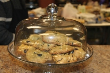 All food and desserts, like these cookies, are prepared by students with disabilities