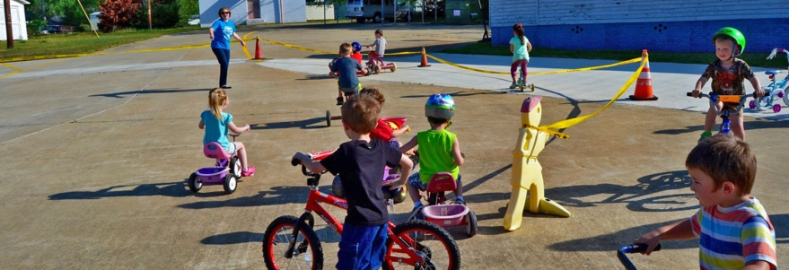 Children ride bikes at 'Family Day'
