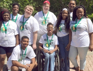 The ADRS youth transition ambassadors pose for a group shot
