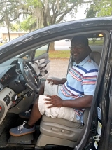 Ronald Witherspoon learns to drive a vehicle with hand controls through ADRS-Lakeshore