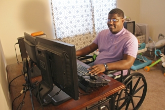 Ronald Witherspoon is able to work from home with help from Vocational Rehabilitation and State of Alabama Independent Living