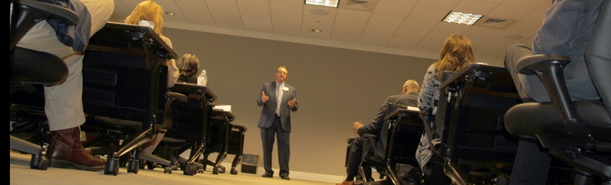 Steve Woodson, chief executive officer of the Council of State Administrators of Vocational Rehabilitation (CSAVR), explains the goal of the roundtable
