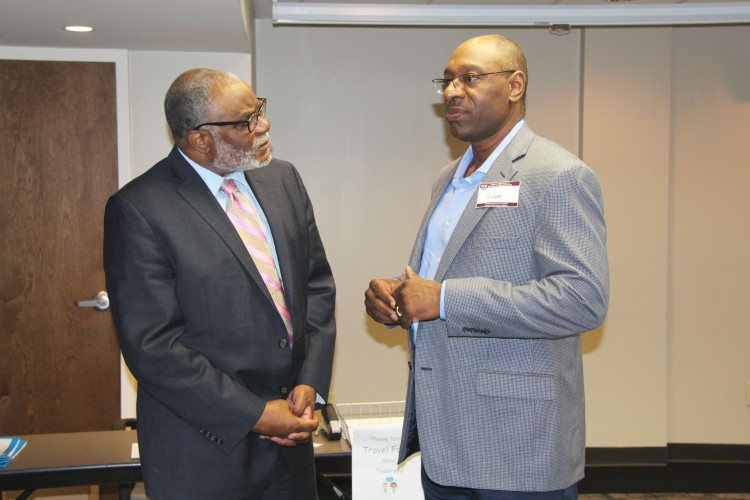 Dr. Albert Holloway was excited to hear new ideas during his visit to the CRS State Parent Advisory Committee Meeting.